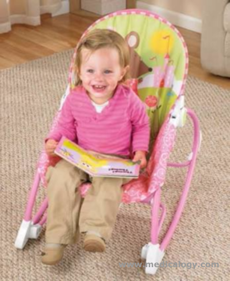 harga Fisher Price PINK Deluxe Bayi Infant to Toddler Comfort Rocker Bouncer