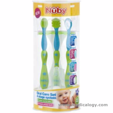 Jual Nuby Tooth Oral Care Set Tooth Brush Pembersih Lidah Sikat Gigi