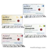 jual Amaryl Tablet 4 mg per Box isi 50 Tablet