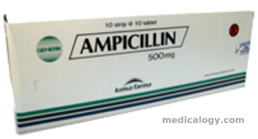 jual Ampicillin Tablet 500 mg per Box isi 100 Tablet