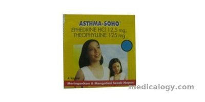 jual Asthma Soho per box isi 100 Tablet