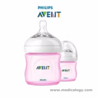 jual Botol Susu Bayi Philips AVENT Natural Pink Feeding Bottle 125ml Import