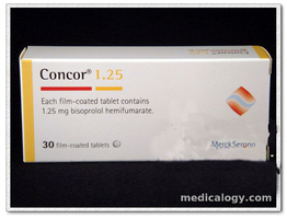jual Concor Tablet 1.25 mg per Box