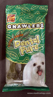 jual Dental Pure Gnawlers Extra Fresh Leaf Bones 3 pcs - 90 grams