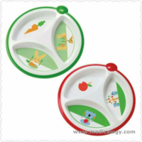 jual Dr Brown Browns Bayi Divided Plate Piring Makan MPASI Bayi Partisi 2pc