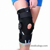 jual Dr Ortho ES-7A01 Korset Lutut Knee Brace Compression Airmesh with ROM Hinge