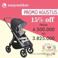 jual Easywalker Mosey+ Stroller - Charchoal