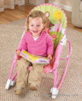 jual Fisher Price PINK Deluxe Bayi Infant to Toddler Comfort Rocker Bouncer