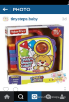 jual Fisher PrIce Teddy's Shape Colors Laugh Learn Mainan Bunyi 6-36 M+