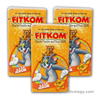 jual Fitkom Orange 30's new per pack isi 6 Botol
