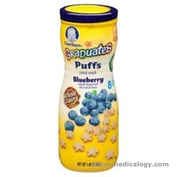 jual GERBER PUFFS GRADUATES Cereal Snack Baby BLUEBERRY 42 Gram