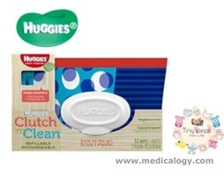 jual Huggies Clutch N Refillable Zip-Close Pouch 32 Wipes Tisu Basah Basah
