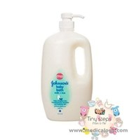 jual Johnson's Baby Bath Milk Plus RIce 1000Ml