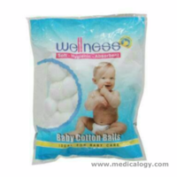 jual Kapas bola bulat Bayi WELLNESS Cotton Ball Balls isi 100 pcs