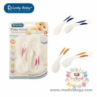 jual Lucky Baby TAKE-ALONG Fork Spoon Set