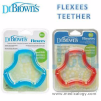 jual Mainan Gigitan Bayi DR Brown / Dr Browns flexees Teether blue / pink