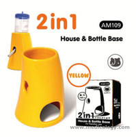 jual Mainan Hamster 2 In1 House & Bottle Base Yellow  AM109