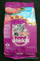 jual Makanan Kucing Whiskas Junior Ocean Fish Flavor With Milk 1.1 kg