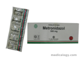 jual Metronidazole Tablet 500 mg per Box isi 100 Tablet