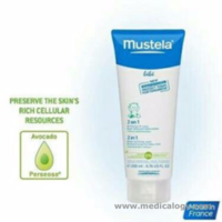 jual Mustela Bebe 2 in 1 hair and body wash 200ml Premium Made in France