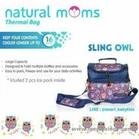 jual Natural Mom Thermal Bag Sling Owl