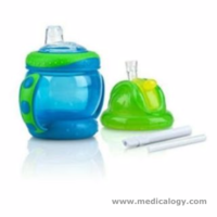 jual NUBY 360 Grip N Sip 2 in 1 Combo Spout Straw Sippy Cup 240ml