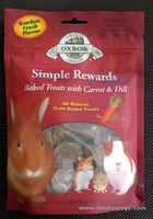 jual Oxbow Simple Rewards Baked Treats With Carrot & Dill 60g CDBT2
