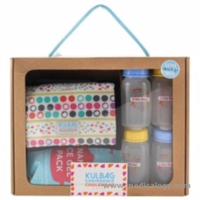 jual Paket Little Bayi Cooler Bag Gift Set Kit KULBAG 4 Botol ASI  1 Ice Gel