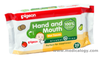jual Pigeon Hand  Mouth Wet Tissue 20 Sheets - 204 Antiseptika Bayi