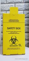 jual PROMO Tempat Sampah Medis Safety Box 5 Liter Biohazard Container  5 L