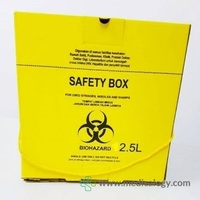 jual PROMO Tempat Sampah Medis Safety Box 2,5 Liter Biohazard Container