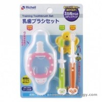 jual Richell Training ToothBrush Set | Sikat gigi Bayi 3 stage