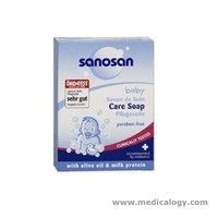 jual Sanosan Premium Baby Care Soap 100 Gram With Olive OilMilk ProtecT