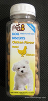 jual Snack Anjing/Pet8 Dog Biscuits Chicken Flavour 110 JC12-BS
