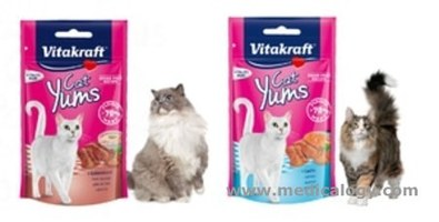 jual Vitakraft Cat Yums Catyums Salmon / Liver Sausage 40Gr Snack Kucing