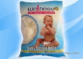 jual Wellness Baby Cotton Balls 100 Pcs